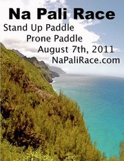 Stand Up Paddle Board Race on NaPali, Kauai