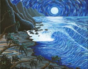 Na Pali Moon by Moses Hamilton
