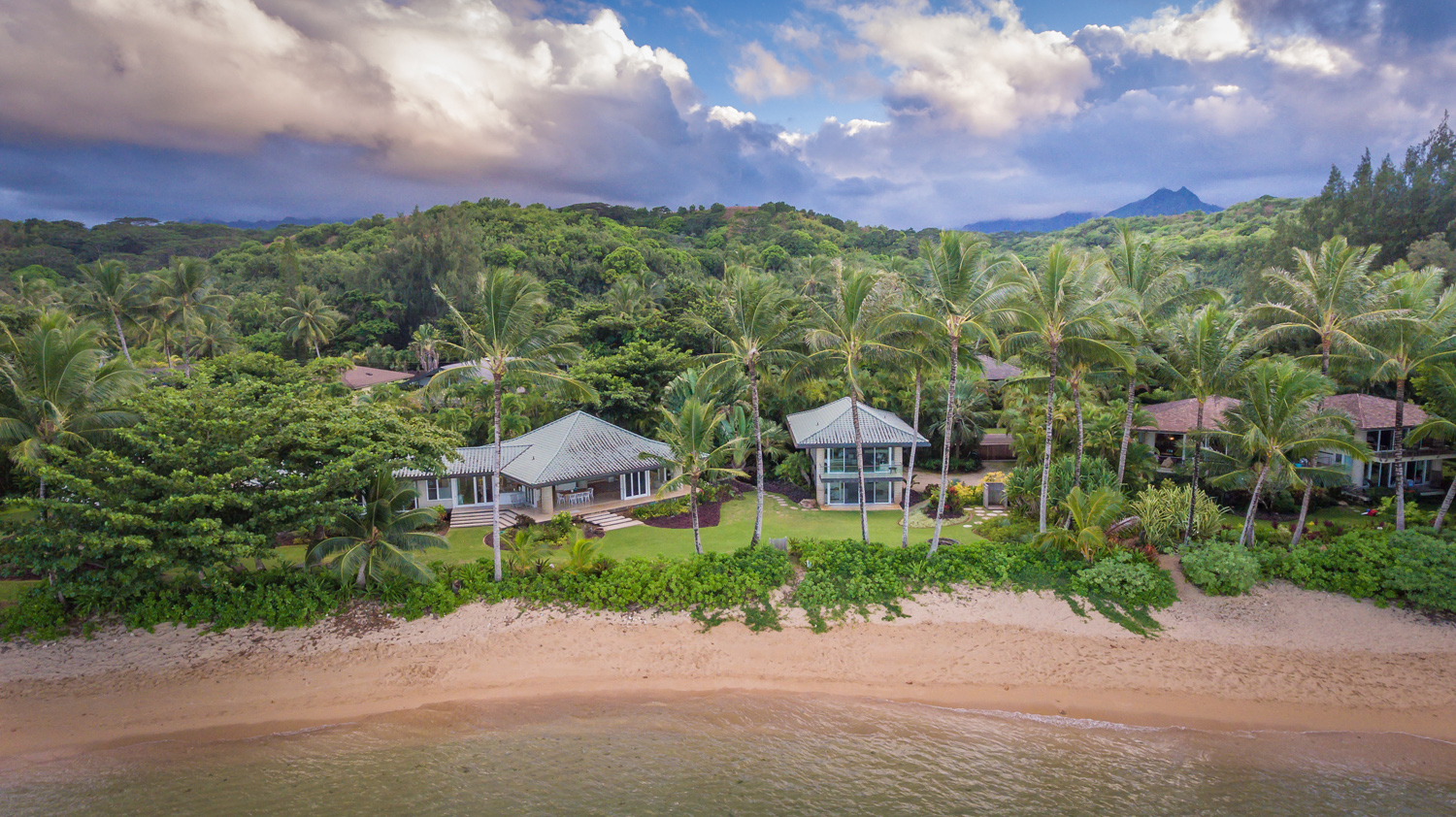 Anini Beach Kauai Vacation Al Keawaihi Is Set On A Roomy One Acre Oceanfront Site Landscaped With Swaying Palms Hala Native Naupaka And Fragrant