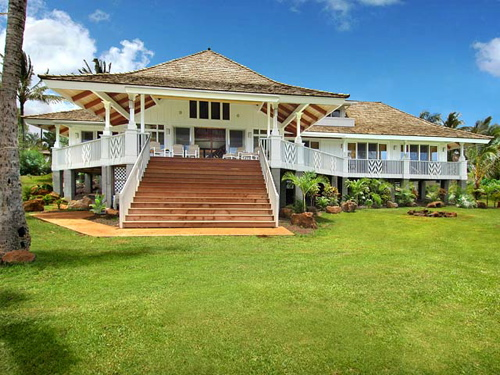 Poipu Beach Vacation Al Ious 5 Bedroom 6 Bath Beachfront Home Adjacent To A White Sand Huge Main Lanai In Addition Off Of Each