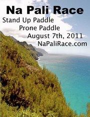Stand Up Paddle Board Race on NaPali, Kauai